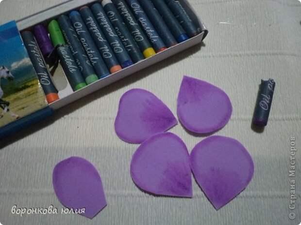 здравствуйте дорогие мастерицы.вот решила с вами поделиться тем , как я делаю цветок орхидеи. фото 5