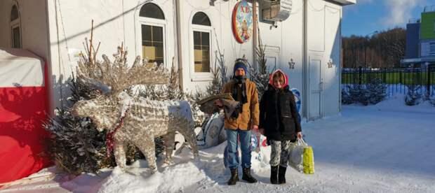 Воспитанники воскресной школы в Куркине собрали гуманитарную помощь для животных