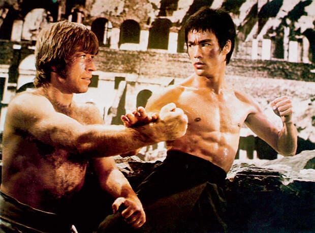 Подняв руку на Брюса Ли в «Возвращении дракона», Чак стал знаменитостью