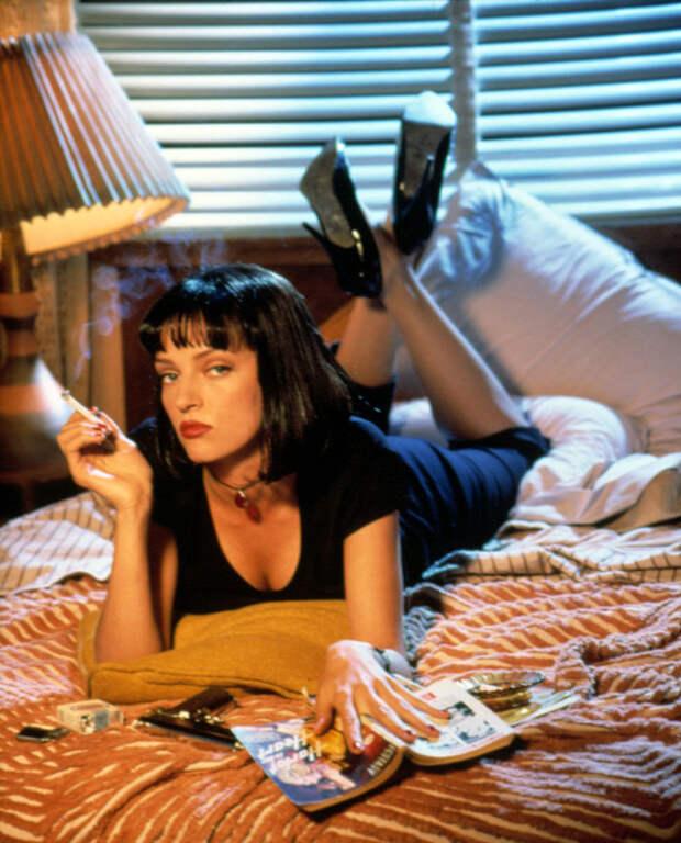 Ума Турман (Uma Thurman) в фотосессии Фируза Захеди (Firooz Zahedi) для фильма Pulp Fiction (1994), фото 1