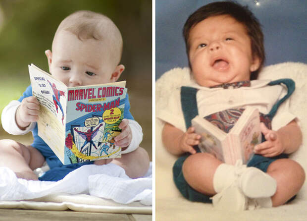 Читатель: ожидание и... дети, фото, юмор