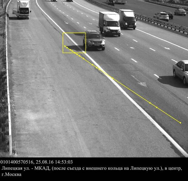 Москвичу выписали штраф: тень автомобиля нарушила ПДД авто, гаи, гибдд, штраф