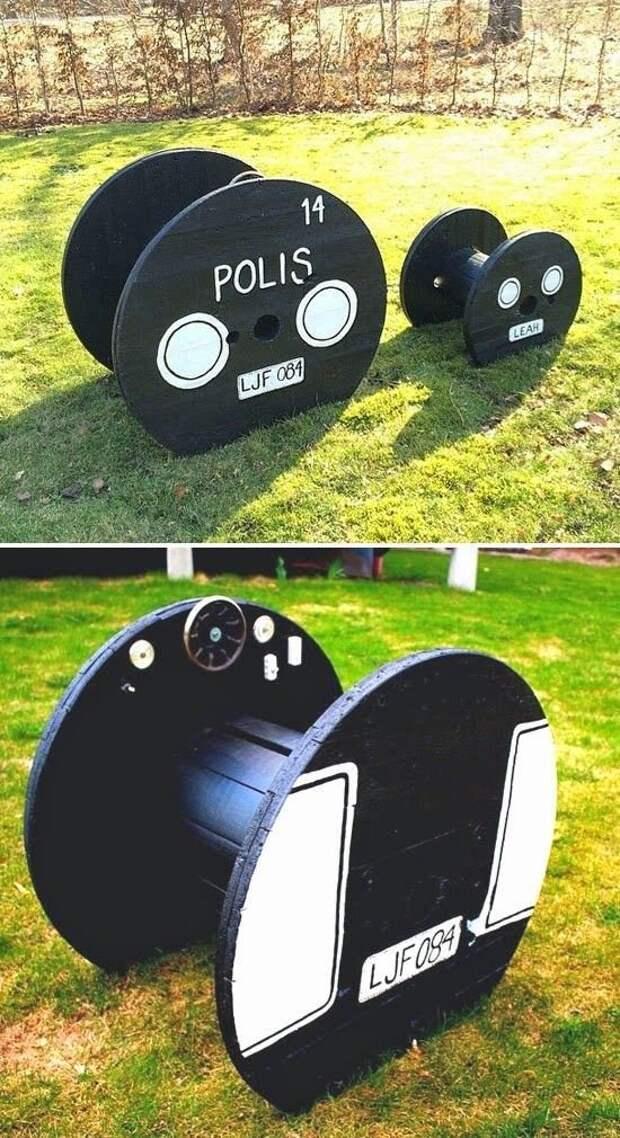 Кабельные барабаны в деле - это фантастично и гениально Фабрика идей, дизайн, интересное, кабельные барабаны, креатив, умельцы