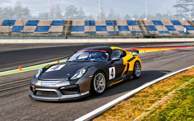 Тестируем Porsche Cayman GT4 Clubsport на «Лаузицринге»