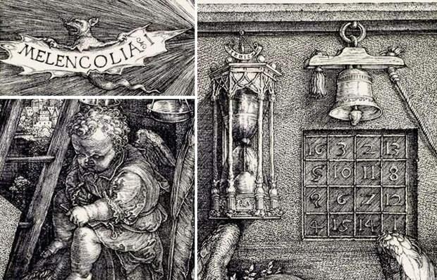 Скрытые тайные замыслы великолепной гравюры Дюрера «Меланхолия», созданной 500 лет назад