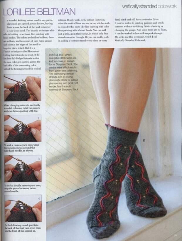 Как связать красивые носки diy