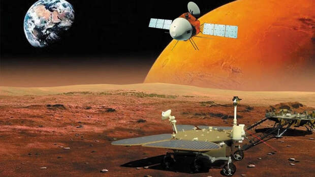 Китайский марсоход совершил успешную посадку на Марс!