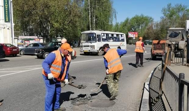 Ямочный ремонт дорог начался в Глазове