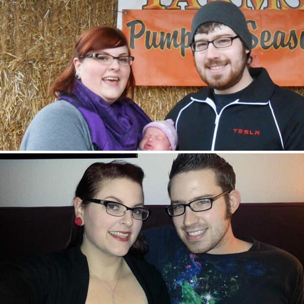 После рождения ребенка они начали худеть вдвоем - и результат впечатляет! диета, лишний вес, похудение