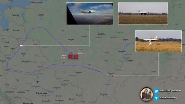 Два российских Ту-160 одновременно отработали уничтожение Украины, Польши, Литвы и Латвии из воздушного пространства Белоруссии