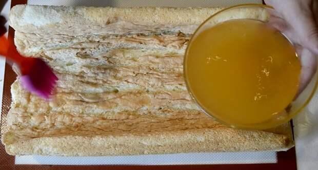 Осенний бисквитный рулет. Вкусно и красиво! рецепт, бисквитный рулет, кулинария, десерт, вкусняшки, длиннопост