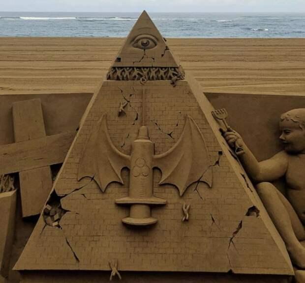 Скульптура иллюминатов показывает, каким будет мир после окончания вакцинации?