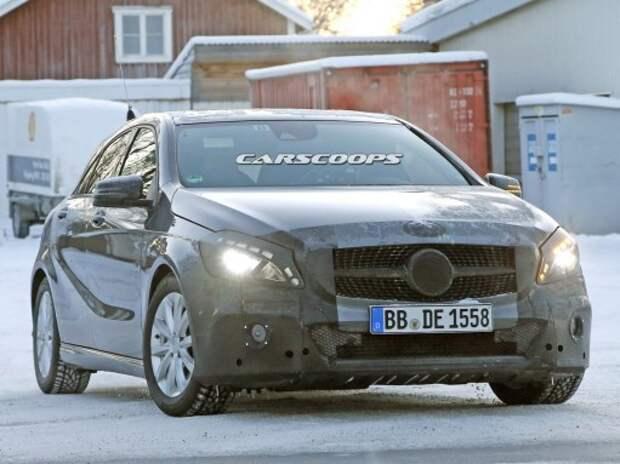 В Mercedes-Benz вывели на тесты обновленный A-класс