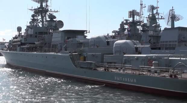 Учения корабля «Пытливый» ВМФ РФ прошли на фоне захода судна ВМС Британии в Черное море