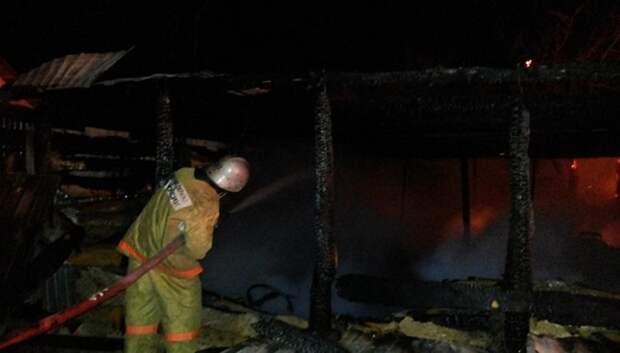 Бытовка сгорела в Климовске