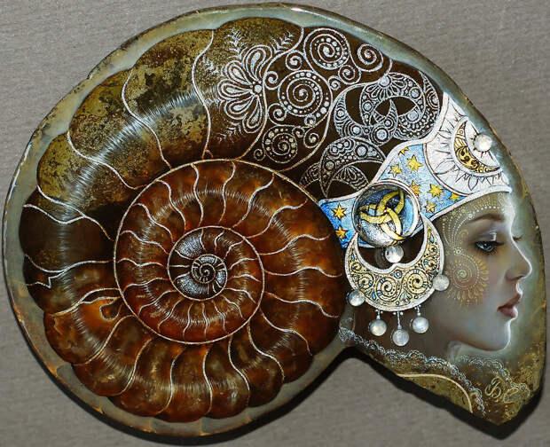 Сказочные миниатюры на камнях Светланы Беловодовой.