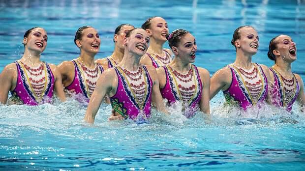 Сборная России досрочно выиграла медальный зачет в синхронном плавании на чем...
