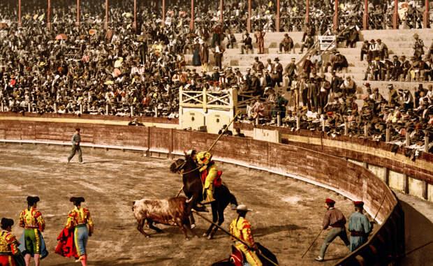 Испытание рыцаря Такое положение дел было обусловлено большим количеством воинов благородного сословия, недавно вернувшихся из битв с маврами. На арене того времени с быком сражался храбрый конный рыцарь, кабальеро. Все изменилось с началом правления короля-француза Филлипа V: монарх невзлюбил кровавое зрелище, следом за ним внезапным отвращением к любимому развлечению проникся и весь двор.