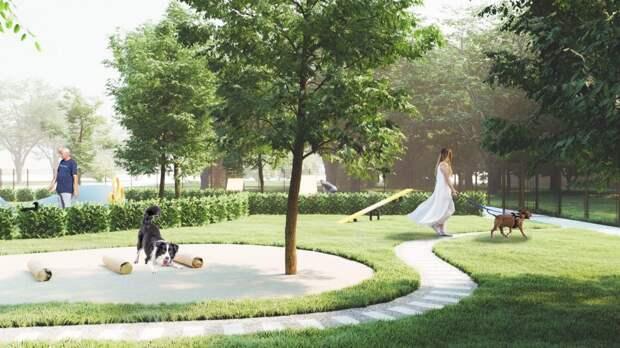 Префект СВАО Алексей Беляев утвердил план строительства площадки для собак в Лосинке