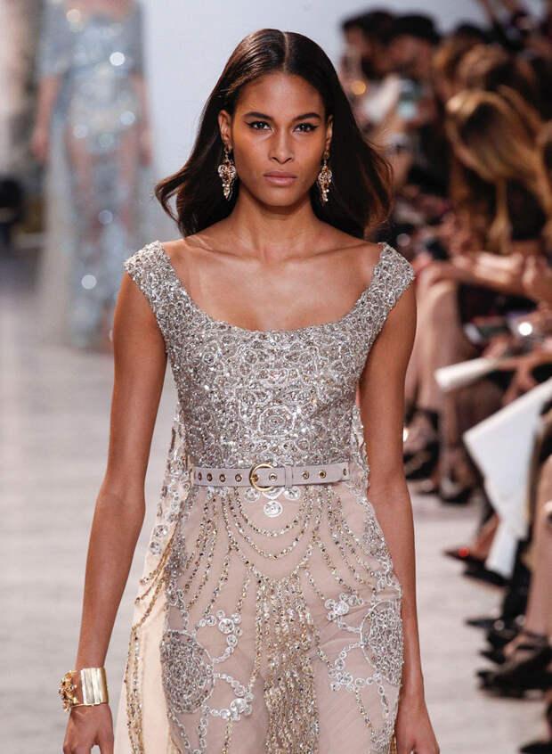 Вышивка высокой моды в новой весенней коллекции Elie Saab. Часть 1
