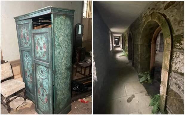 Особенная мебель и былая красота постепенно превращается в развалины («Rosehall Estate», Шотландия). | Фото: tourister.ru/ deadlinenews.co.uk.