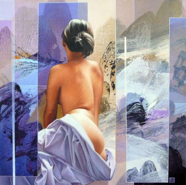 Обнаженная натура в изобразительном искусстве разных стран. Часть 192.