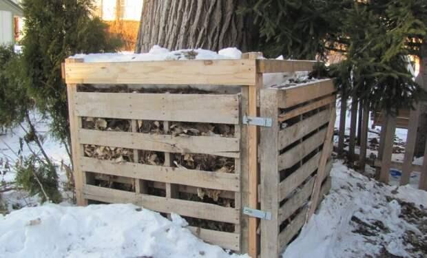 Что делать с пищевыми отходами на даче зимой