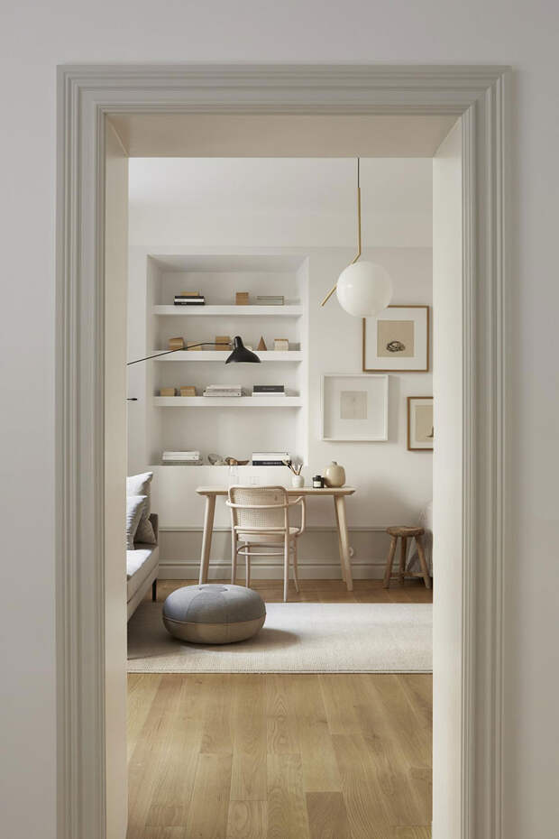 Уютный, элегантный и стильный интерьер маленькой квартиры в Стокгольме (40 кв. м)