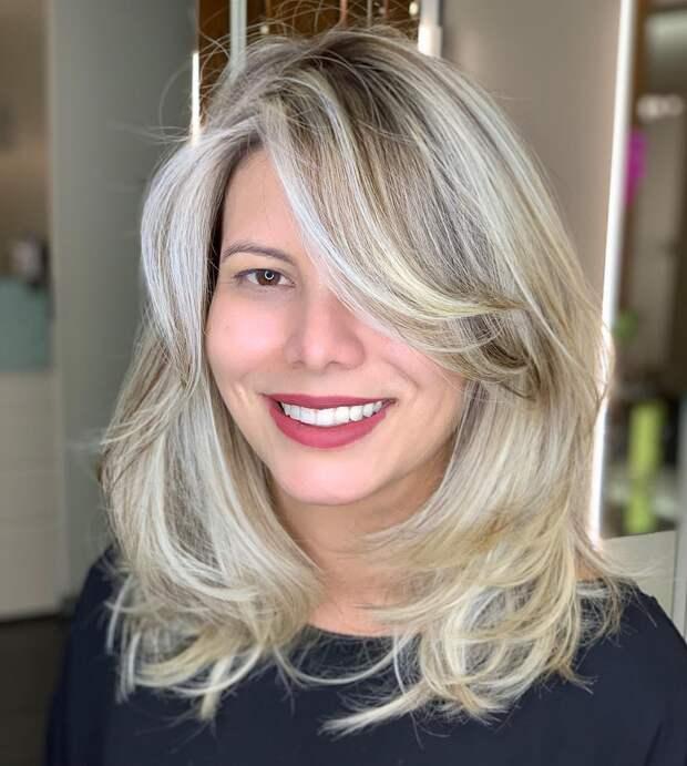 Стрижки после 50 лет на средние волосы 2020 фото 9