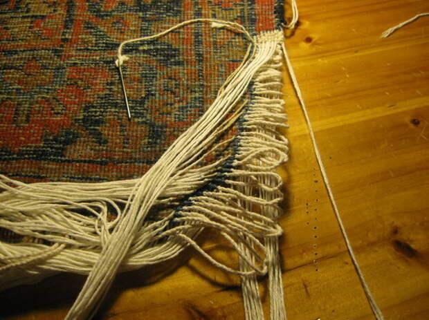 Как выглядит реставрация ковров