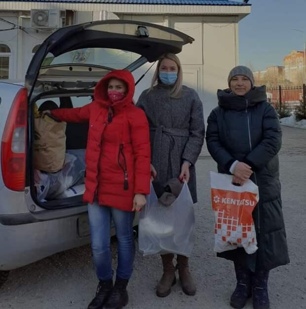 Волонтеры из Куркина оказали помощь нуждающимся из Новогорска