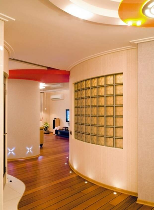 стеклоблоки в интерьере квартиры