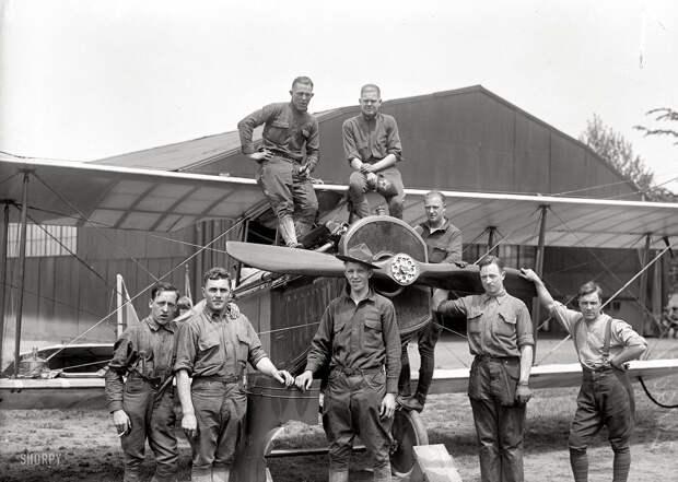 Самолеты и пилоты начала 20-го века на снимках американских фотографов (12)