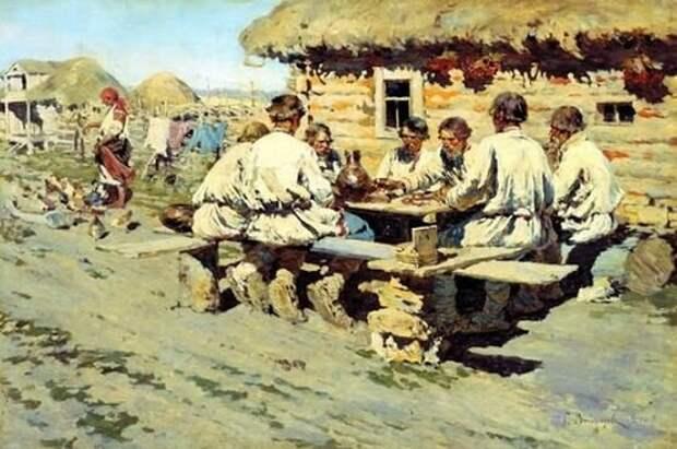 Русские крестьяне не привыкли перерабатываться, главная цель их была - обеспечить себя. А уж большевистские реформы они обеспечивать вообще не собирались