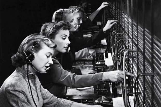 девушки телефонистки