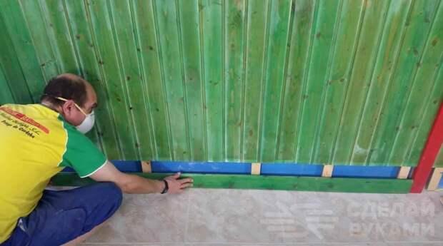Как обшить стены деревянной вагонкой
