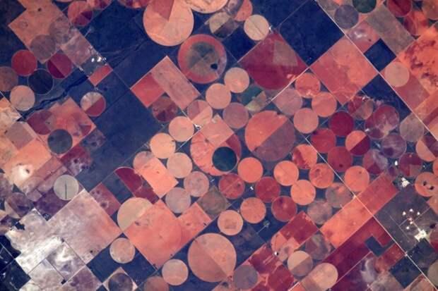 3. Поля в округе Гейнз, Техас земля, космонавт, космос
