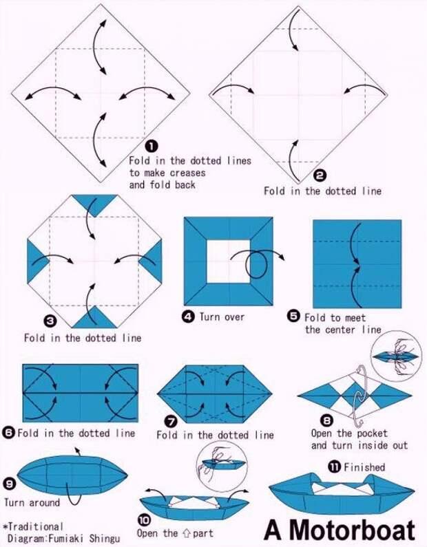 4. Моторная лодка бумажные кораблики, детство, запускать, лужи, ностальгия