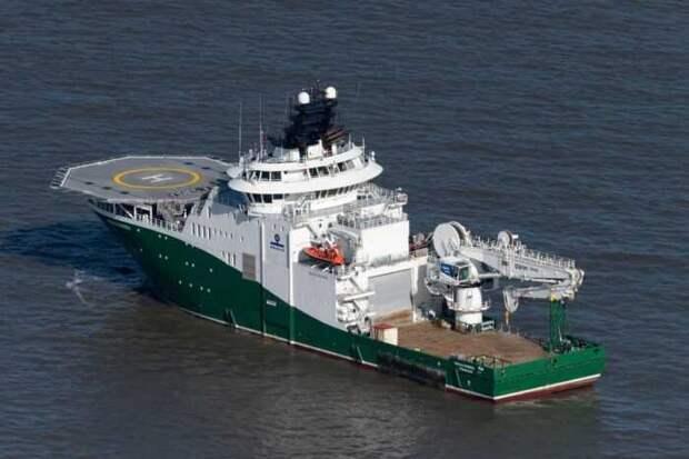 Судно шведской компании идет работать на «Северный поток-2»