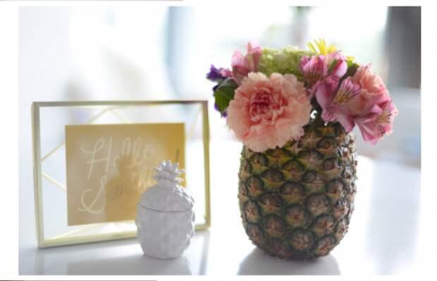 Ваза из ананаса (Diy)