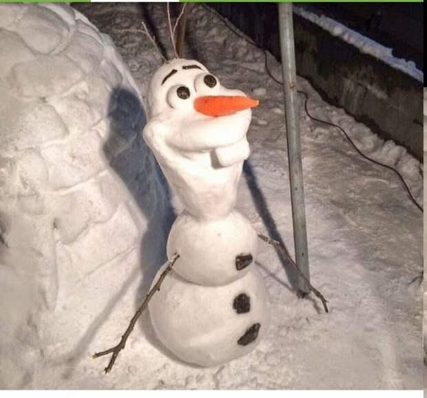 Олаф снеговик