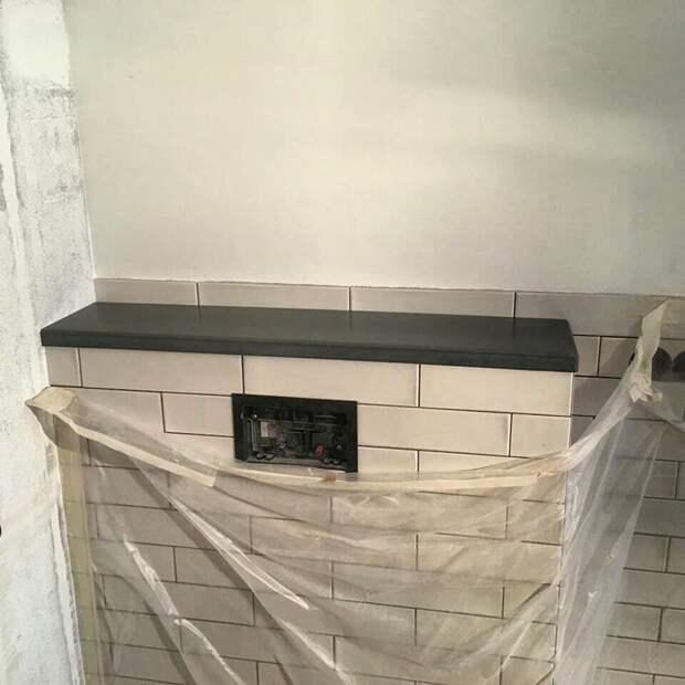 Полка для ванной комнаты бетон, дизайнерские штучки, из бетона, крутые штуки, необычно, необычные вещи
