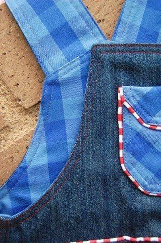 Шьeм джинсовый комбинезон для малышей
