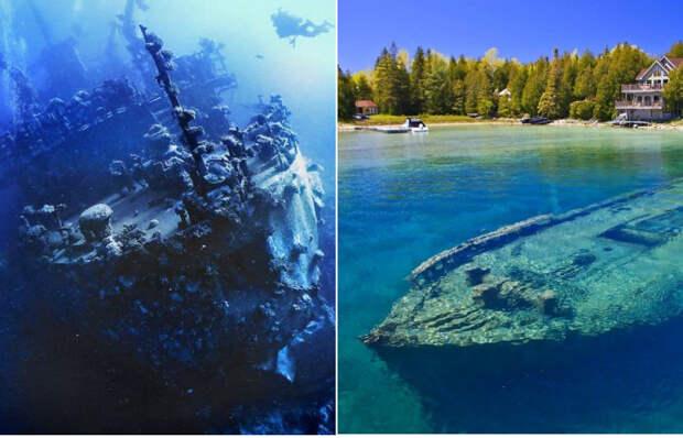 Затонувшие корабли, ставшие местом паломничества дайверов.
