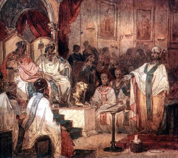 Пульхерия и Маркиан на Халкидонском соборе 451 года Источник: wikipedia.org
