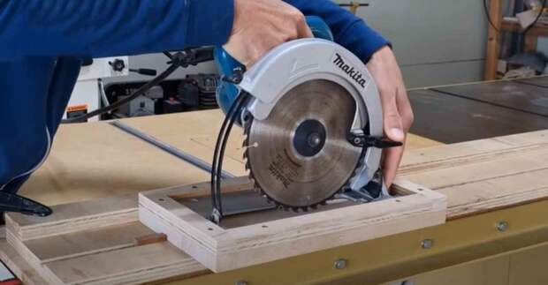 Как сделать направляющую с подвижной площадкой для дисковой пилы
