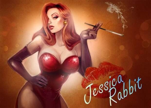 Джессика Рэббит. Нарисованная красотка из 80-ых.