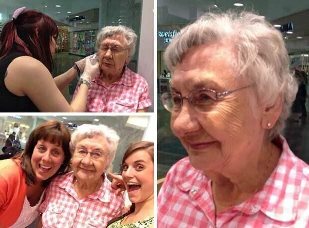 1. Впервые проколоть уши возраст, новые свершения, позитив, смех, старость. бабульки, юмор