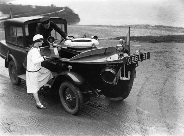 Гибрид автомобиля и моторной лодки от Peugeot, 1925 год авто, мото, ретро