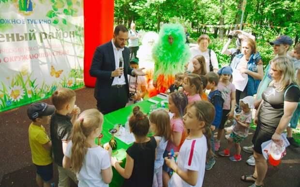 Ректор РХТУ Мажуга: экологические квесты учат заботиться о природе. Фото: Дмитрий Бубонец